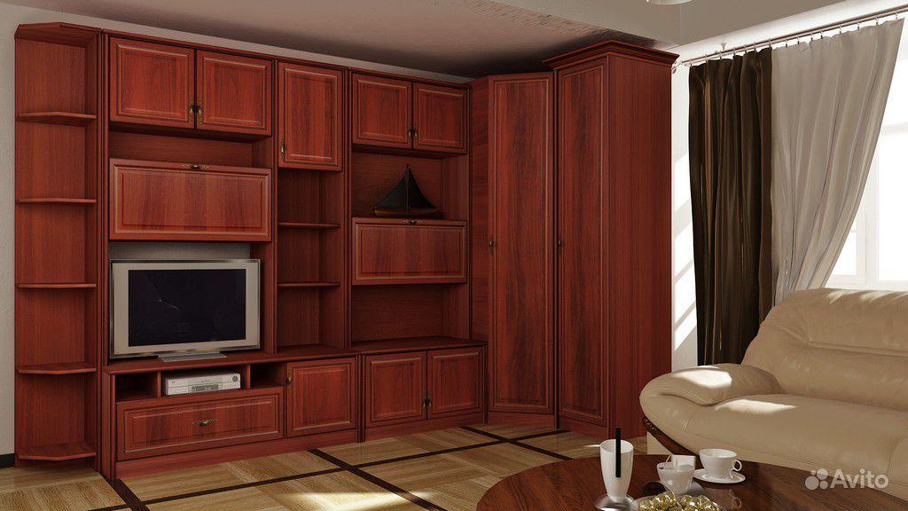 Модульные гостиные с угловым шкафом.