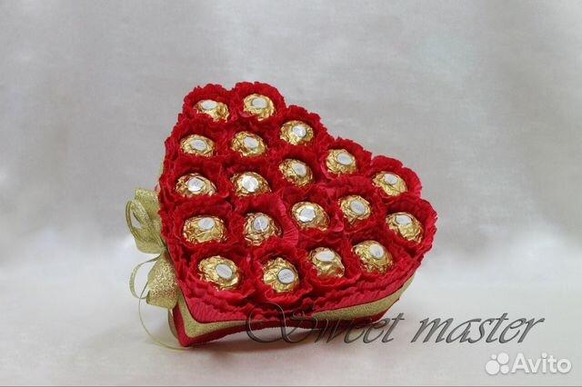 Сладкие валентинки из конфет