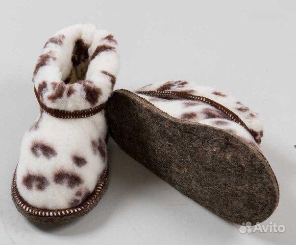 Домашняя обувь, чуни из натуральной овчины купить в