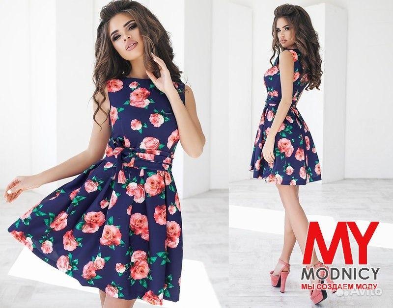 7ded220c8e2 Синее платье с розами. Много вещей