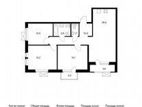 3-к квартира, 88.2 м², 3/24 эт. — Квартиры в Тюмени