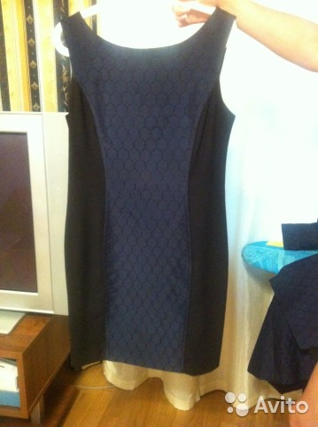 b82722194b8 Новое платье офисное сине-черное купить в Москве на Avito ...