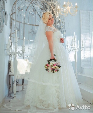 Свадебные платья большого размера напрокат