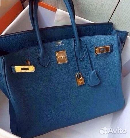 597cf8b8c9a0 Сумка Синяя Гермес Биркин Магазин Hermes Birkin купить в Москве на ...