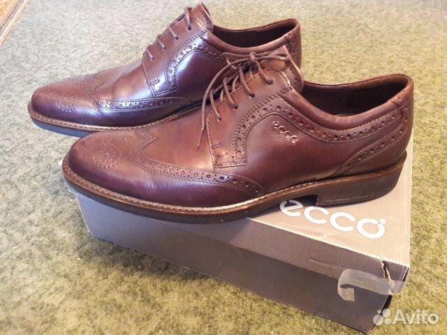Мужские туфли (броги) ecco натуральная кожа   Festima.Ru ... 742654906bf
