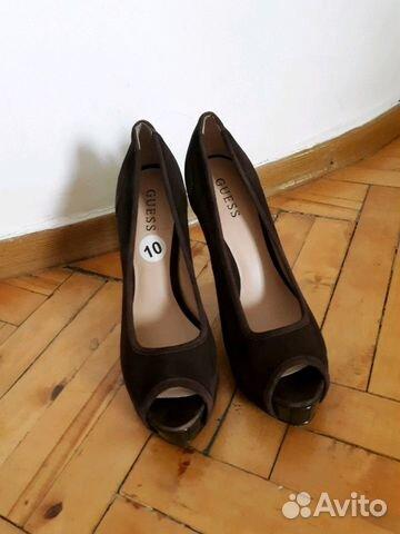 Новые замшевые туфли guess  479264592ea2f