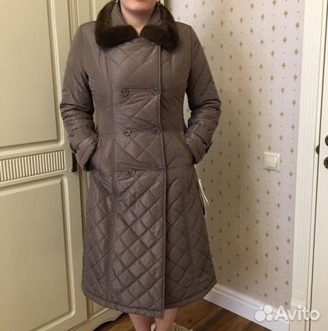 320c1aa2e066 Пальто стёганное с норкой новое Orsa Couture 46-48 купить в Москве ...