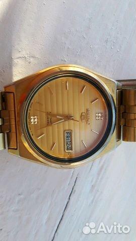 Мужские позолоченные наручные часы Seiko 5 89283211593 купить 10