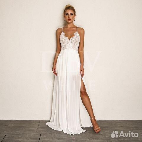 dffa0241154 Белое вечернее платье купить в Санкт-Петербурге на Avito ...