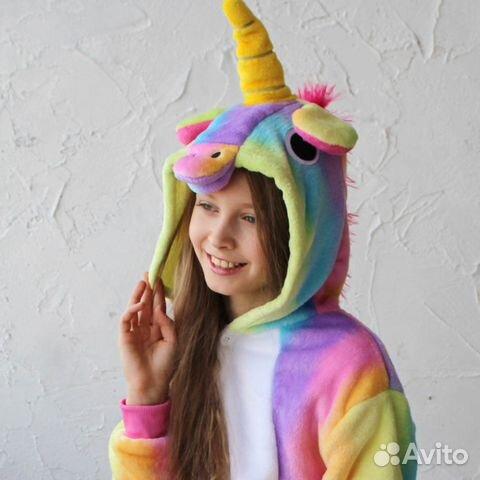 Кигуруми радужный единорог детский  555f5124d0212