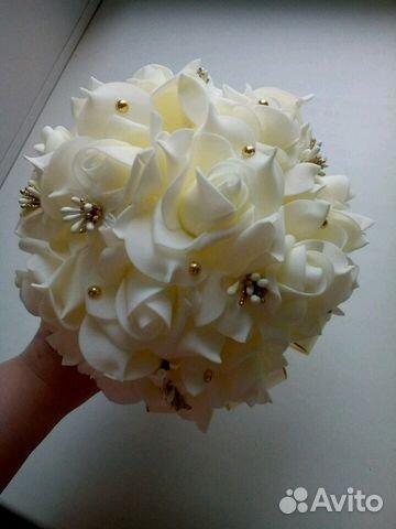 Свадебный букет 16 см диаметров #10