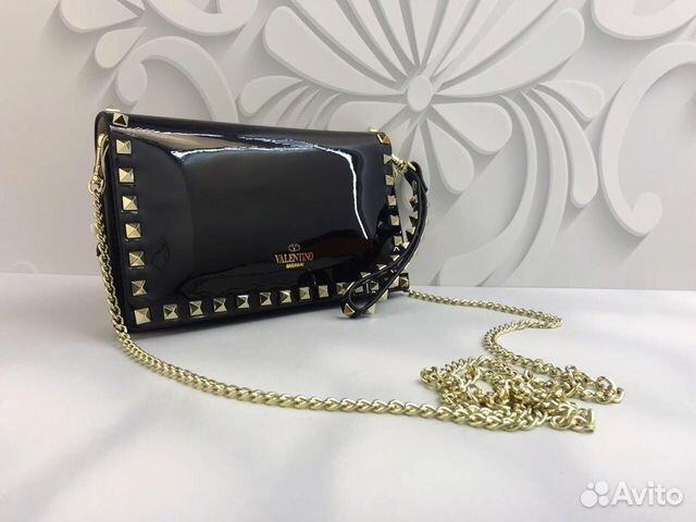 Клатч Черная Сумка Шанель Woc Chanel Вок на цепочк  daa6c09559fc9