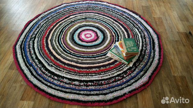 круглый вязаный ковёр ручной работы варианты расц купить в