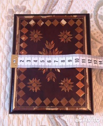 Деревянная шкатулка,СССР (16 см) 89137668817 купить 3