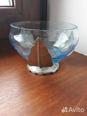 Декоративные вазы. стекло в металлическом обрамлен 89512657538 купить 4