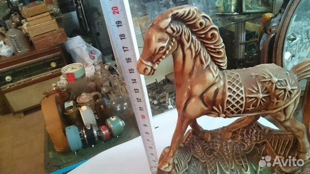 Статуэтка конь, фарфор или фаянс купить 1