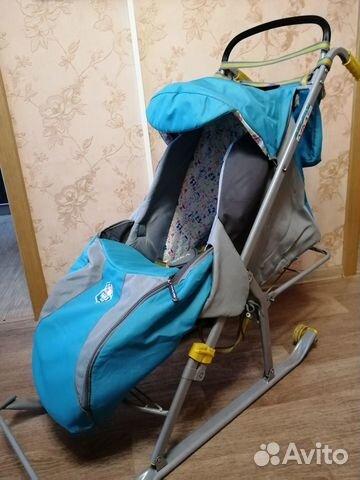 Детские санки-коляска  купить 1