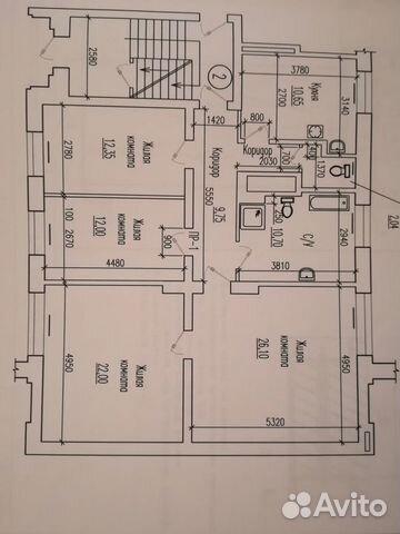 4-к квартира, 105 м², 1/3 эт. 89003466382 купить 7