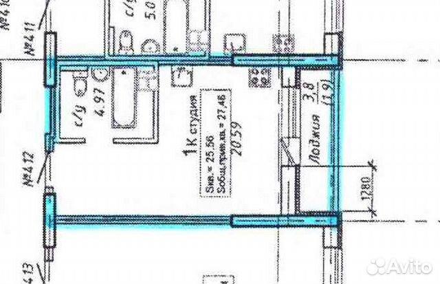Студия, 27 м², 3/23 эт.