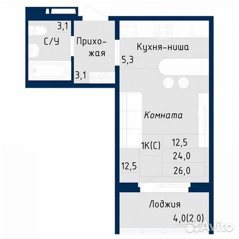 1-к квартира, 26 м², 7/18 эт.  89619858358 купить 6