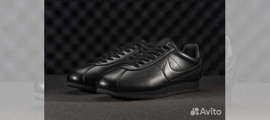 e10725bfc982 ... Кроссовки Nike Cortez мужские черные кожаные купить в Москве на Avito —  Объявления на сайте Авито ...