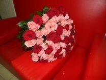 101 роза 70см. Доставка цветов