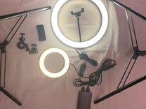 Кольцевая лампа - штатив для телефона