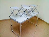 Стол туристический складной + 4 стула