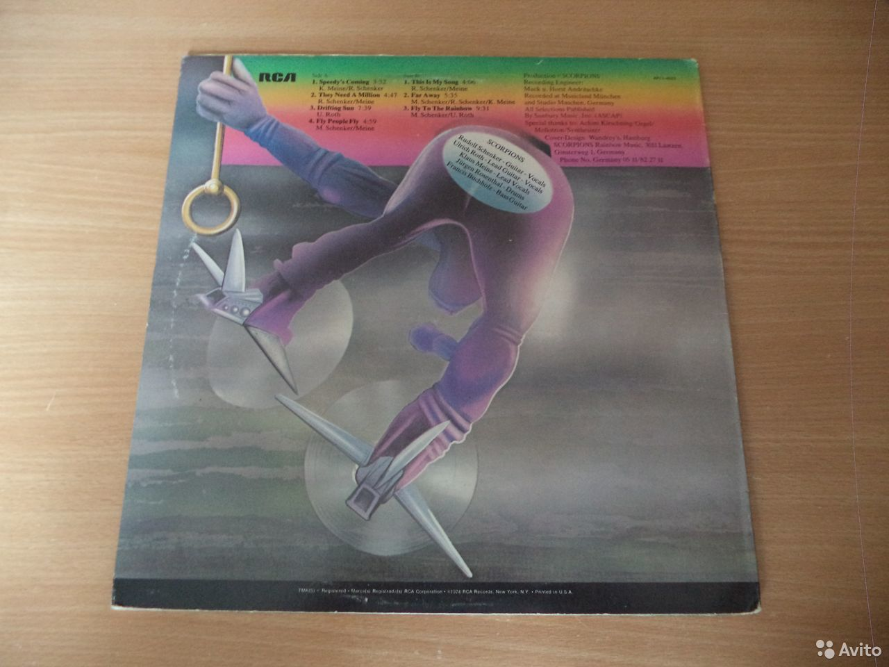 Scorpions - Fly To The Rainbow USA LP(Винил)