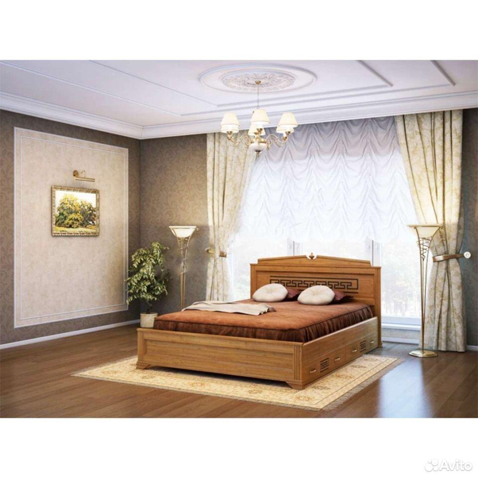 Кровать, матрас, тумба, комод из массива дерева  89023272899 купить 2