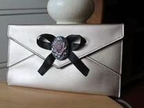 Сумочка - клатч конверт камея роза новый