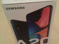 SAMSUNG Galaxy A20 синий как новый
