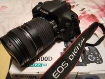 Фотоаппарат Canon 600d EF-S 18-135