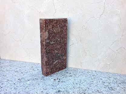 Гранит гранитная брусчатка плитка красная (Л)