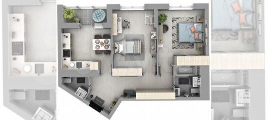 2-к квартира, 63.6 м², 23/32 эт. в Свердловской области   Покупка и аренда квартир   Авито